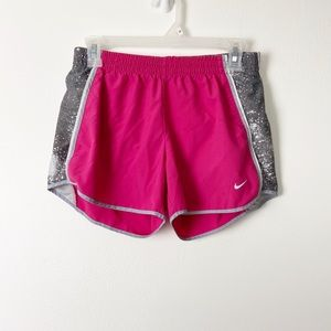 NIKE Dri Fit Pink Grey Speckle Tempo Running Short